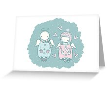 Angels in the Sky Greeting Card