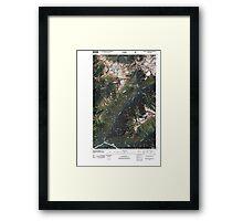 USGS Topo Map Washington State WA Downey Mountain 20110510 TM Framed Print