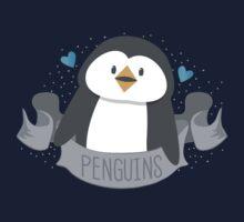 Penguin on a banner Kids Tee
