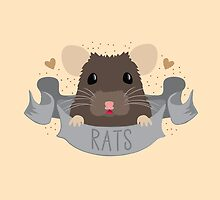 RATS with cute rat on a banner by jazzydevil