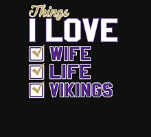 Things I Love Wife Life Vikings Unisex T-Shirt