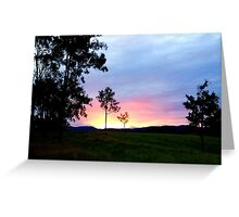 Late Afternoon Glass Greeting Card