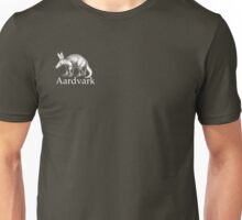Aardvark white logo Unisex T-Shirt