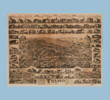 Panoramic Maps Truro Nova Scotia 1889 Kids Tee