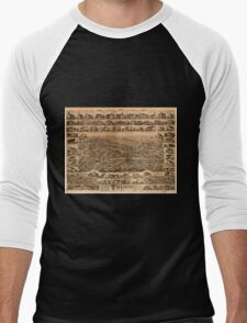 Panoramic Maps Truro Nova Scotia 1889 Men's Baseball ¾ T-Shirt