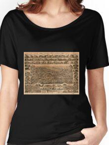 Panoramic Maps Truro Nova Scotia 1889 Women's Relaxed Fit T-Shirt