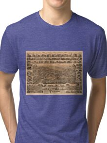 Panoramic Maps Truro Nova Scotia 1889 Tri-blend T-Shirt