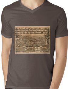 Panoramic Maps Truro Nova Scotia 1889 Mens V-Neck T-Shirt