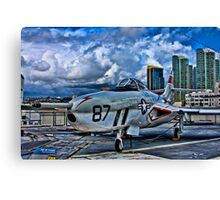 USS Midway Fighter Canvas Print