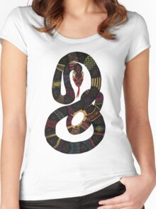 geo snakes lead Women's Fitted Scoop T-Shirt