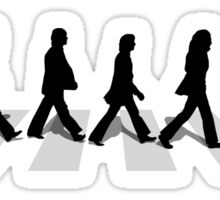 abbey road black Sticker