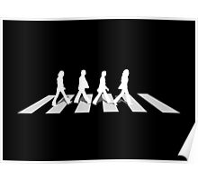 abbey road black Poster