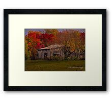 An Old Tennessee Barn in the Fall Framed Print