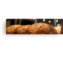 Freshly baked loaves of bread at a bakery.  Metal Print