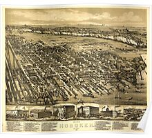 Panoramic Maps The city of Hoboken New Jersey 1881 Poster