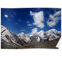 Snow Topped Mountains in the Spiti Valley Poster