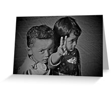 Young Love and Peace Greeting Card
