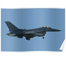 FM AF 86 0307 F-16C Fighting Falcon Approach Poster