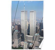 Twin Towers From Blimp Poster