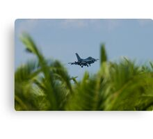 FM AF 86 0307 F-16C Fighting Falcon In the Palms Canvas Print