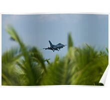FM AF 86 0307 F-16C Fighting Falcon In the Palms Poster
