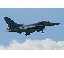 Side Shot FM AF 86 0337 F-16C Fighting Falcon Approach Photographic Print