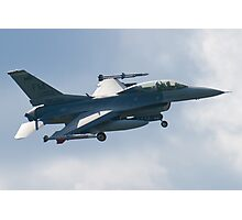 FM AF 86 0053 F-16D Fighting Falcon Approach Photographic Print