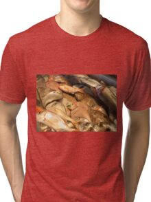 Variety of Fresh Fish Seafood on Ice Tri-blend T-Shirt