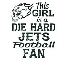 This Girl Is A Die Hard Jets Football Fan Photographic Print