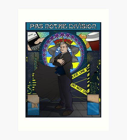 Sherlock Nouveau: Gregory Lestrade Art Print