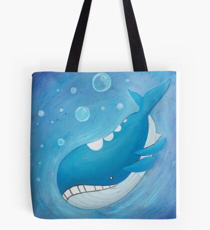 Pokemon Painting - Wailord Tote Bag