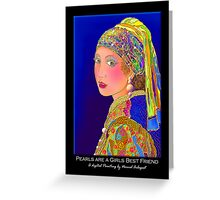 'Pearls Are A Girls Best Friend', Titled Greeting Card Greeting Card