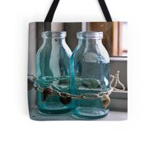 Glass Bottles on the Window Sill in Marblehead Tote Bag