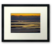 Land, Islands, sea Framed Print