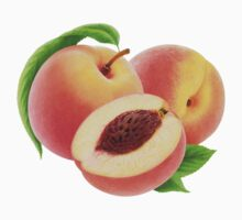 Cut peaches with leaves One Piece - Long Sleeve