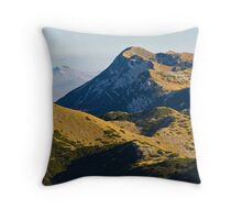 Peaks of mountain Velebit Throw Pillow