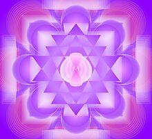 Infinity 7th Chakra Mandala by shoffman