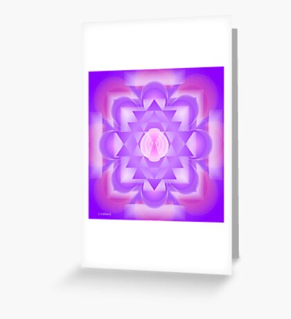 Infinity 7th Chakra Mandala Greeting Card
