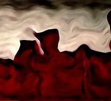 Red Warp Abstract Oil Painting by Fred Seghetti