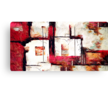 Abstract Square Lines Oil Painting Canvas Print