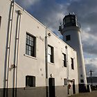 Scarborough lighthouse - and sculpture by monkeyferret