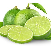 Sliced fresh limes by 6hands