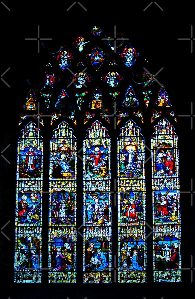 Black Abbey Windows Series: Rosary Window by Denise Abé