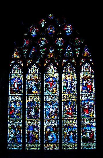 Black Abbey Windows Series: Rosary Window by Denise Abé