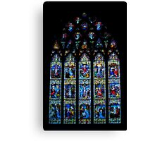 Black Abbey Windows Series: Rosary Window Canvas Print