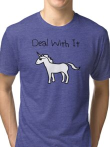 Deal With It (Unicorn) Tri-blend T-Shirt