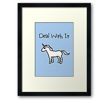 Deal With It (Unicorn) Framed Print
