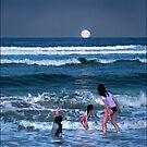 full moon rising by carol brandt