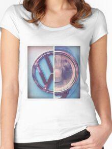 VW Camper Van T's Women's Fitted Scoop T-Shirt