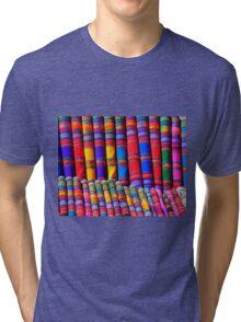 Rainbow Pattern Dye Tri-blend T-Shirt